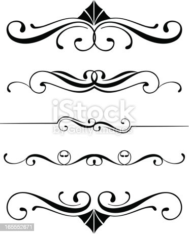 Decorative Dividers Stock Vector Art & More Images of
