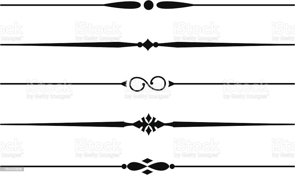 Decorative Dividing Lines #7 royalty-free stock vector art