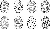 Decorative Easter eggs - collection. Vector