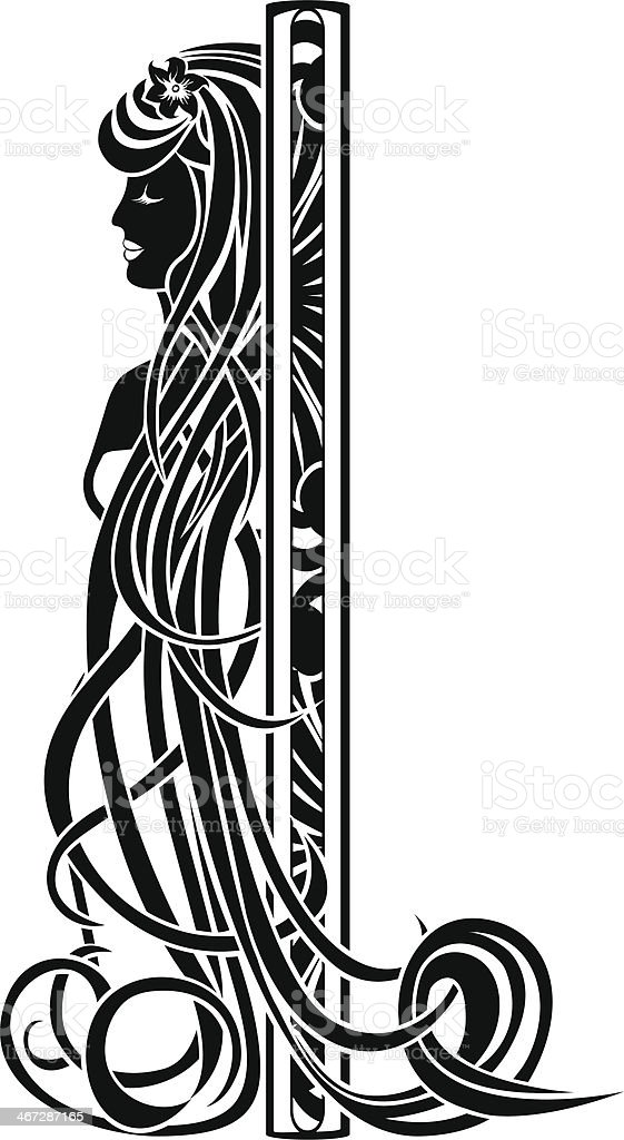 Decorative element in the art nouveau style vector art illustration