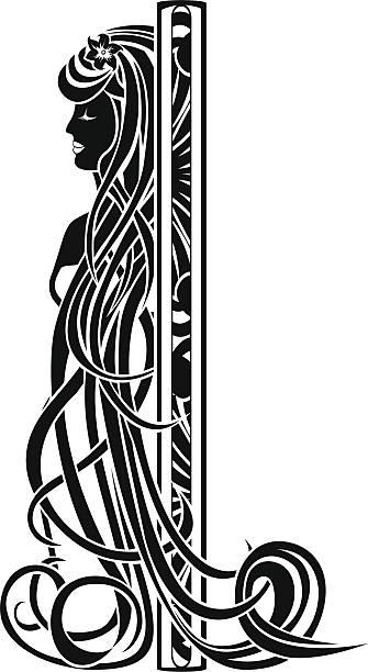Decorative element in the art nouveau style vector art illustration