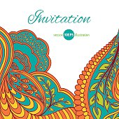Decorative element, lace border. Spring colors. Vector EPS 10