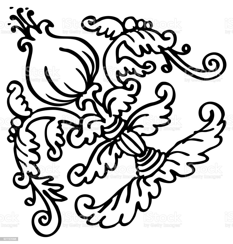 Decorative element. Vector royalty-free decorative element vector stock vector art & more images of art
