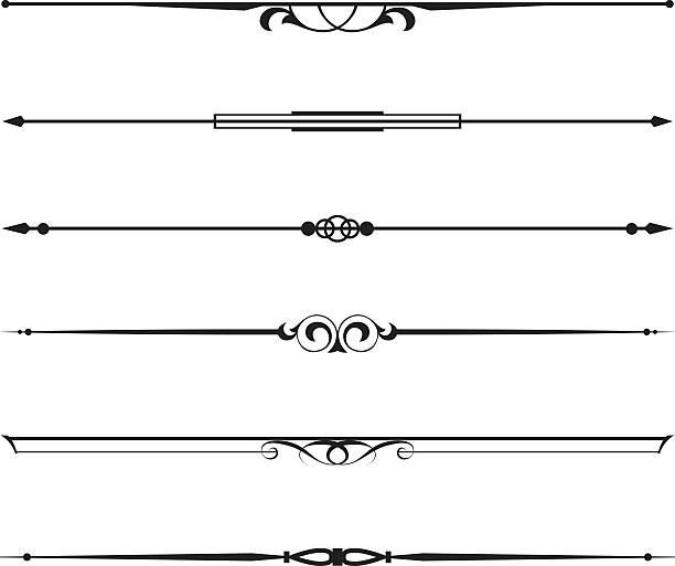dekorative elemente, grenze und seite regeln - mittelalterlich stock-grafiken, -clipart, -cartoons und -symbole