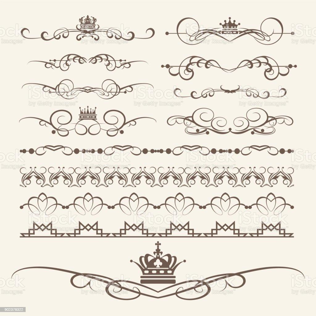 Decorative elements for design. Border, frame, divider. Vector image vector art illustration