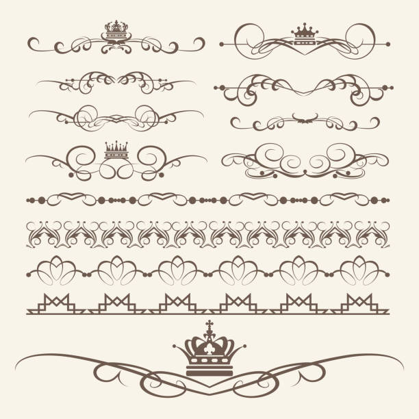 decorative elements for design. border, frame, divider. vector image - renaissance style stock illustrations, clip art, cartoons, & icons