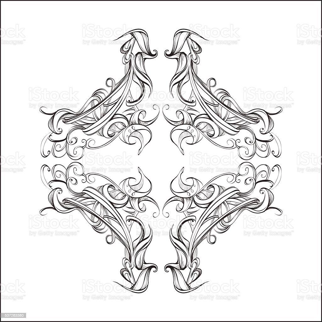 Ilustración de Elementos Decorativos De Diseño Para La Decoración ...