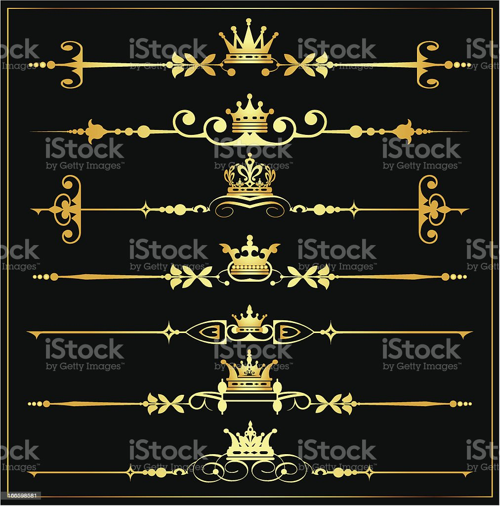 Decorative Elements. Old Style - set 1 royalty-free stock vector art