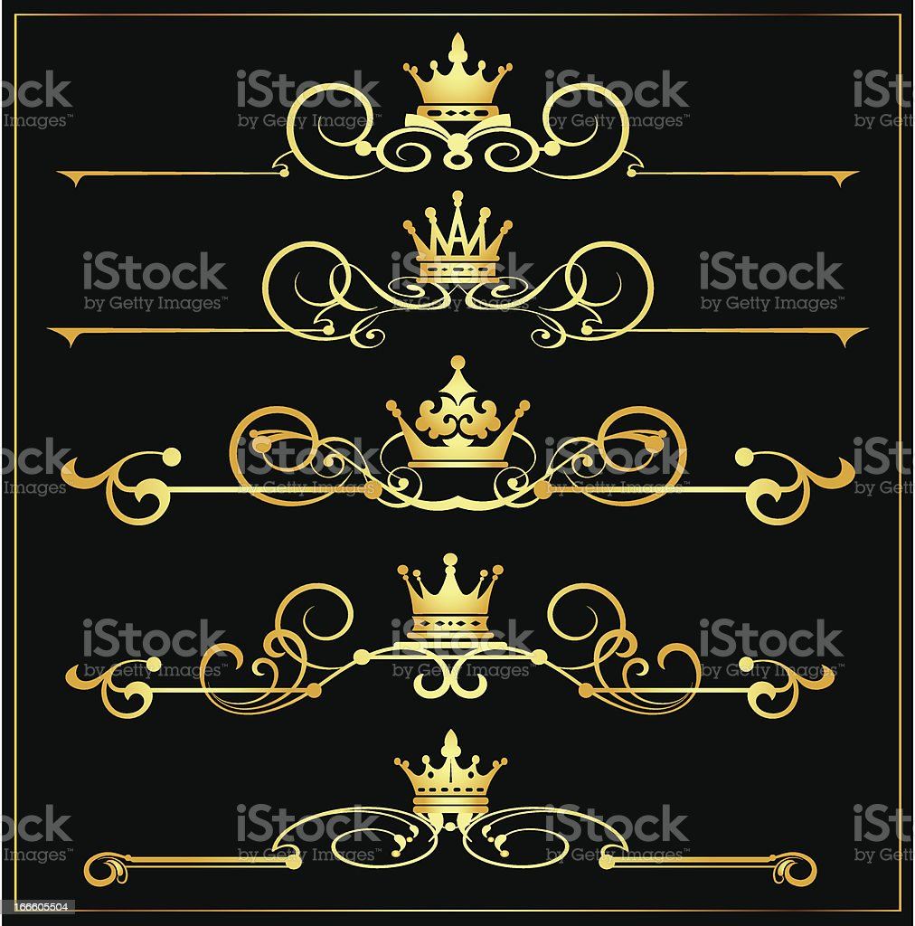 Decorative Elements. Old Style - set 17 royalty-free stock vector art