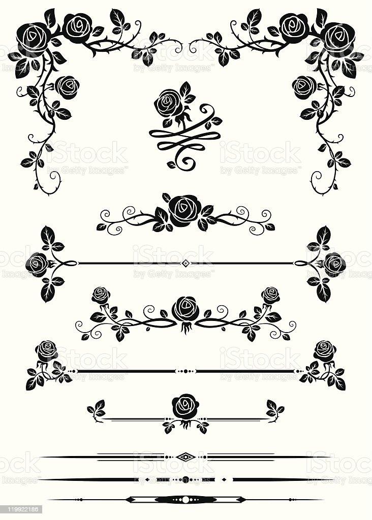 Elementos decorativos - ilustração de arte em vetor
