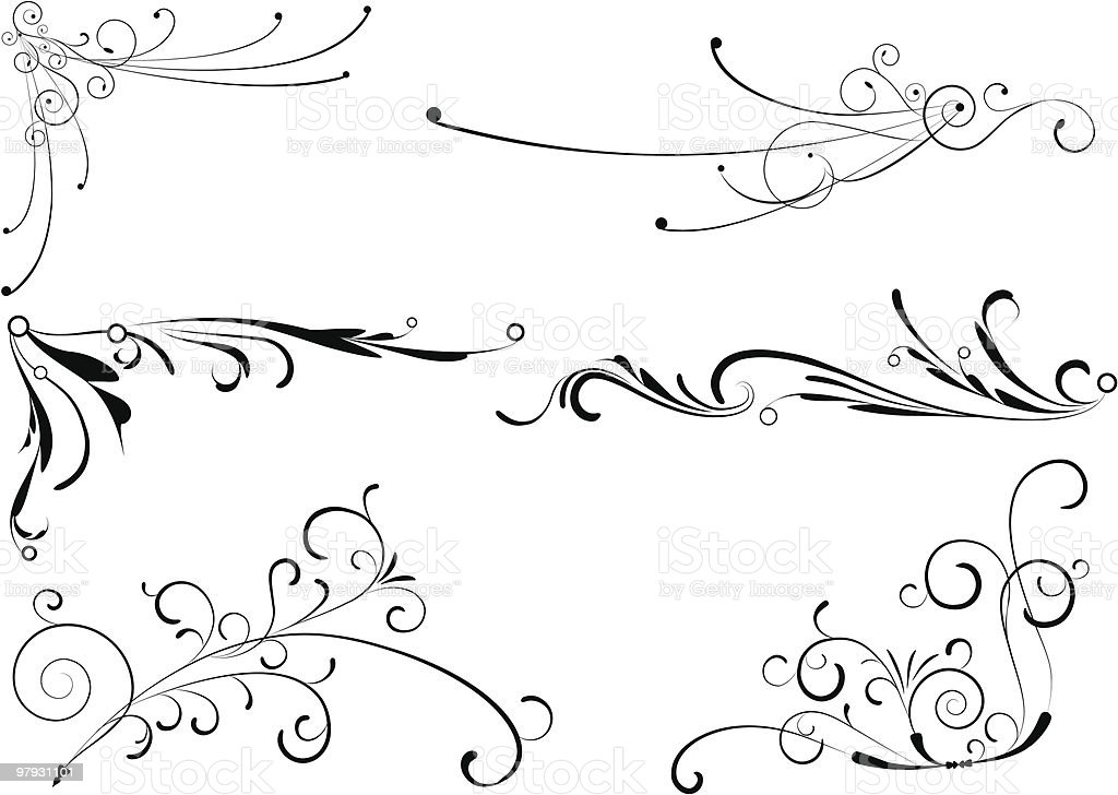 Decorative elements. royalty-free stock vector art