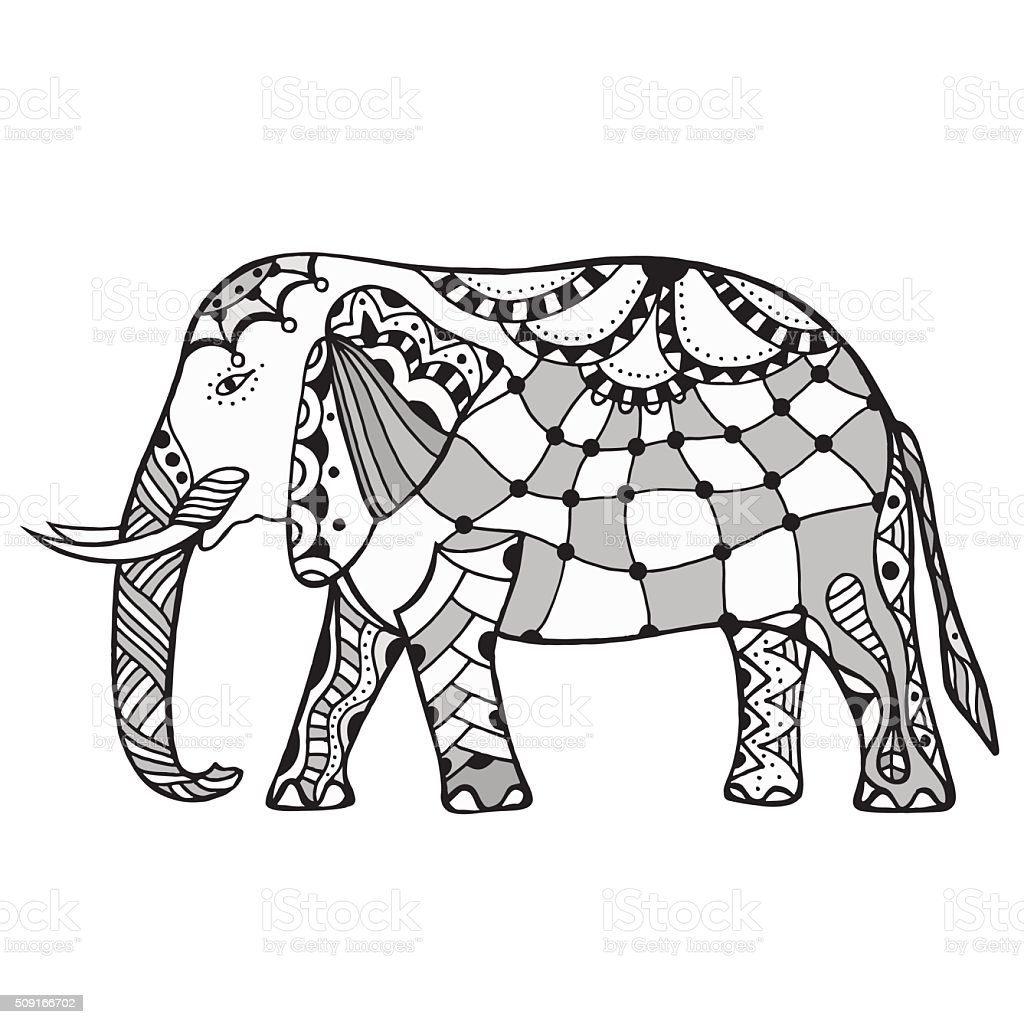 Decorative elephant illustration vector art illustration