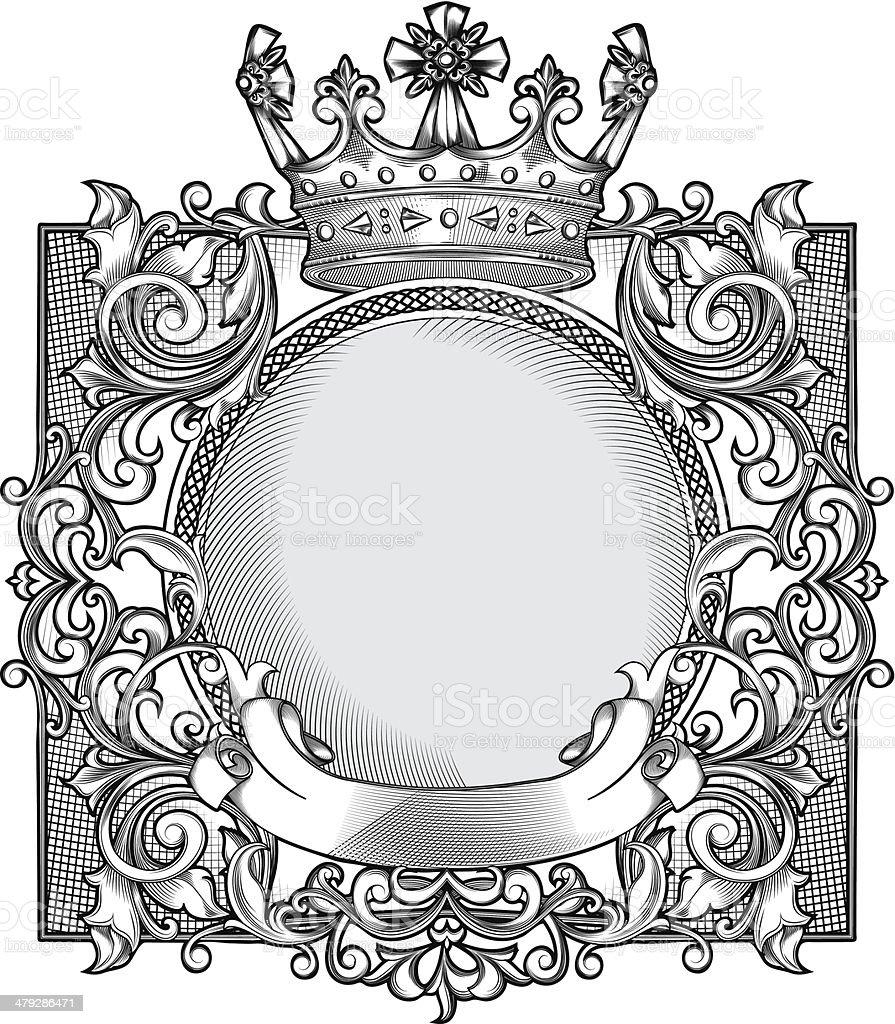 Decorative emblem royalty-free stock vector art