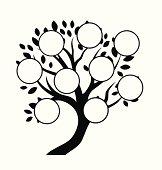 Decorative family tree design, insert your photos
