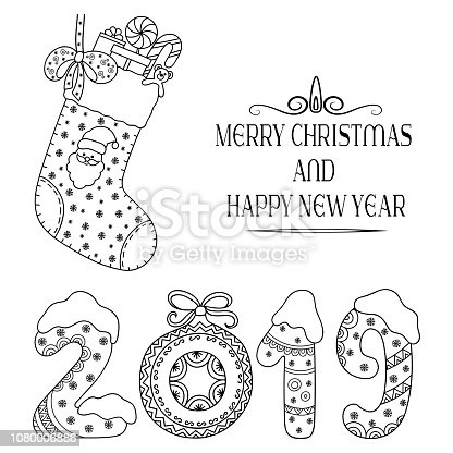 Istock Black And White Seamless Patterns With Gift Boxes For Coloring