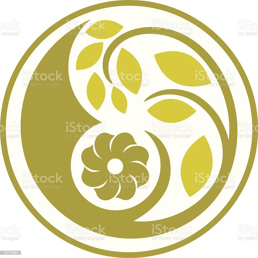 Decorative floral circle royalty-free stock vector art