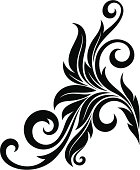 Decorative floral element-graphics. See also