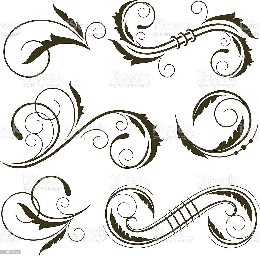 Decorative floral elements royalty-free stock vector art