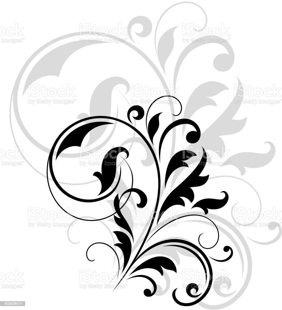 Dekoracyjne Kwiatowy Motyw Stockowe Grafiki Wektorowe I