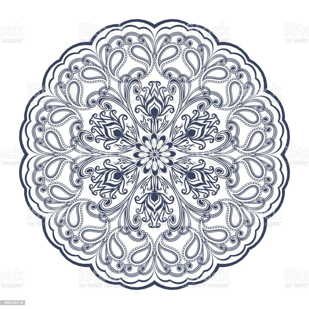Ornement Floral Decoratif Dans Le Style De Lorient Mandala