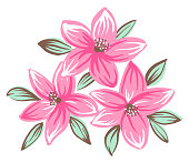 Decorative floral ornament isolated on white background vector illustration
