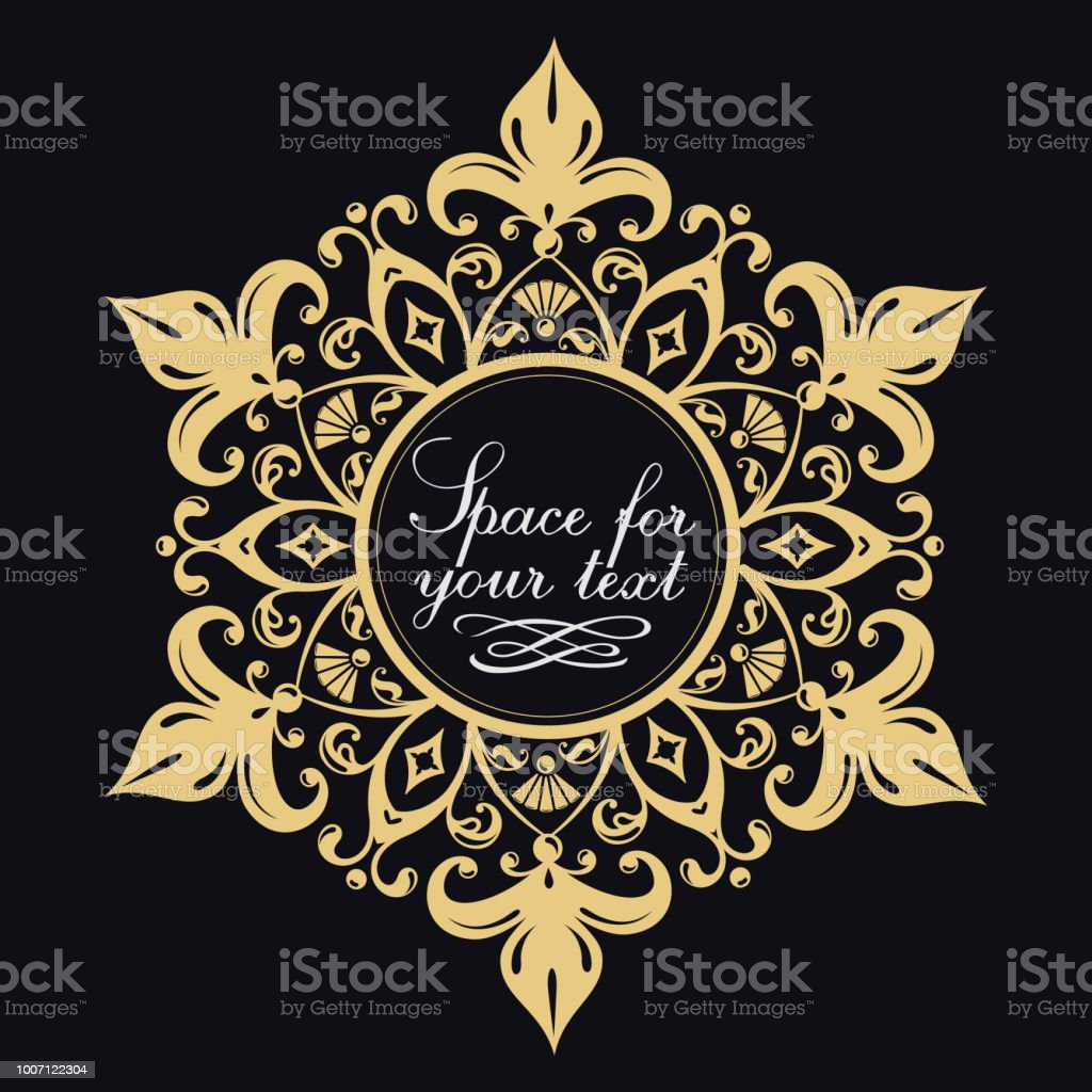 Decorative Floral Pattern Gold Graceful Frame Heraldic Symbols Monogram Initials And Exclusive Calligraphic Design Elements Vector Business Sign Stock Illustration Download Image Now Istock