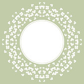 Decorative flower background with clover and place for text for design