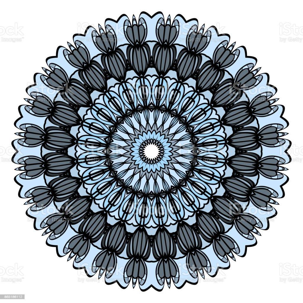 Modele Fleur Coloriage.Conception De Mandala Fleur Decorative Vecteur Serie Modele