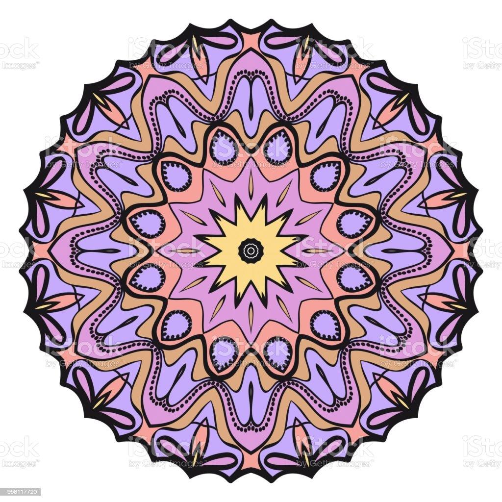 Conception De Mandala Fleur Decorative Vecteur Serie Modele