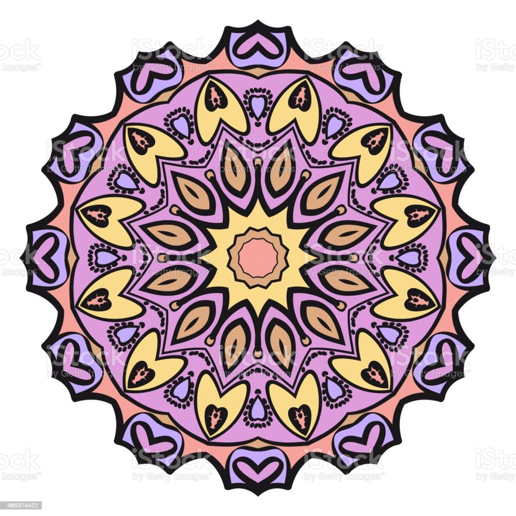 Decorative flower mandala design. Vector round pattern. Coloring. Design for greeting card, invitation, tattoo. royalty-free decorative flower mandala design vector round pattern coloring design for greeting card invitation tattoo stock vector art & more images of abstract