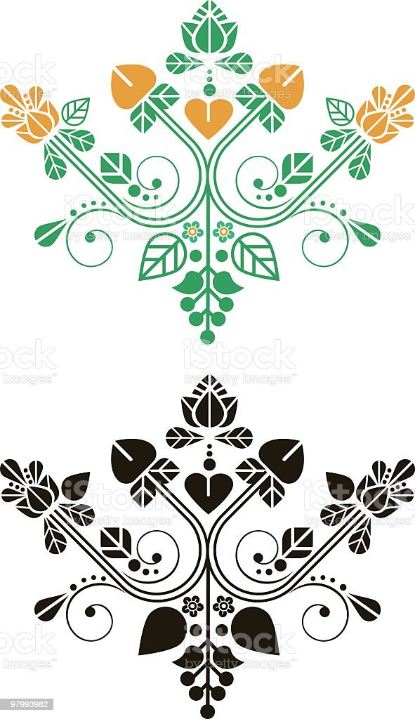 decorative flower royalty-free decorative flower stock vector art & more images of abstract