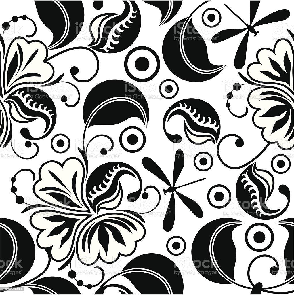Decorative flowers wallpaper royalty-free decorative flowers wallpaper stock vector art & more images of animal markings