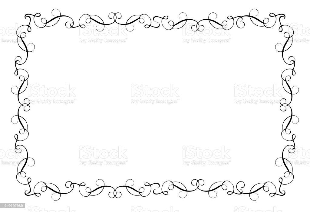 Dekorativ ram och gränser konst. Kalligrafi bokstäver vektorillustration EPS10 vektorkonstillustration
