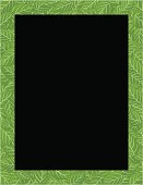 Decorative leaves pattern frame or blackboard. Cadre ou tableau décoratif orné de feuilles. Aussi disponible / Also available in Illustrator CS2.