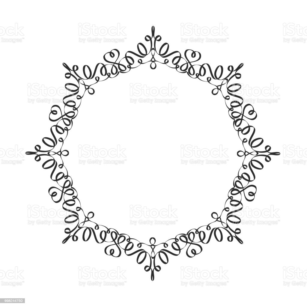 Decorative Frame Elegant Vector Element For Design In Eastern Style ...