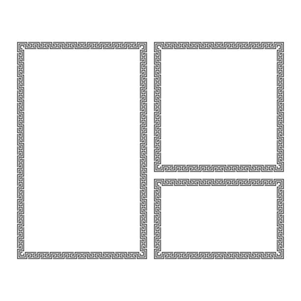 decorative frame set. - architecture borders stock illustrations