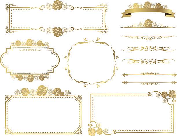 stockillustraties, clipart, cartoons en iconen met decorative frame set vector - caernarfon and merionethshire