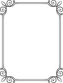 Decorative frame in classical style. ZIP-file includes cdr 9.0