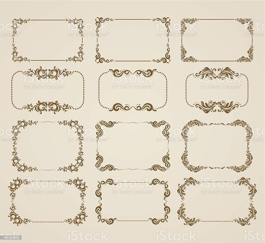 Dekorative Rahmen – Vektorgrafik
