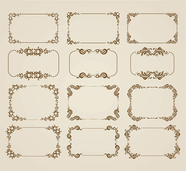 decorative frame - architecture borders stock illustrations
