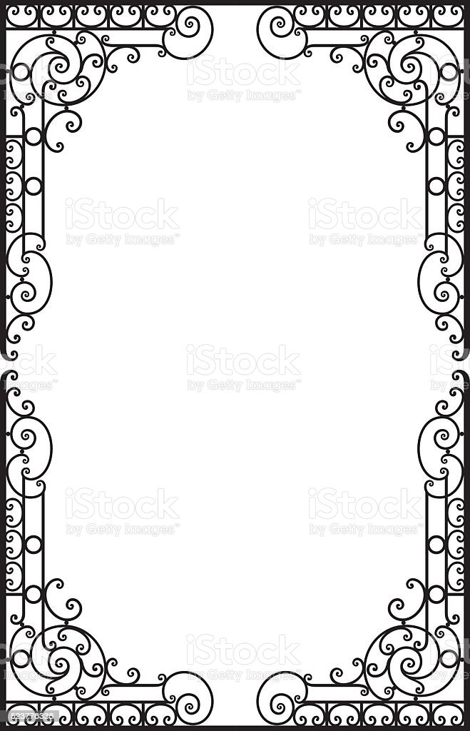 Decorative frame vector art illustration