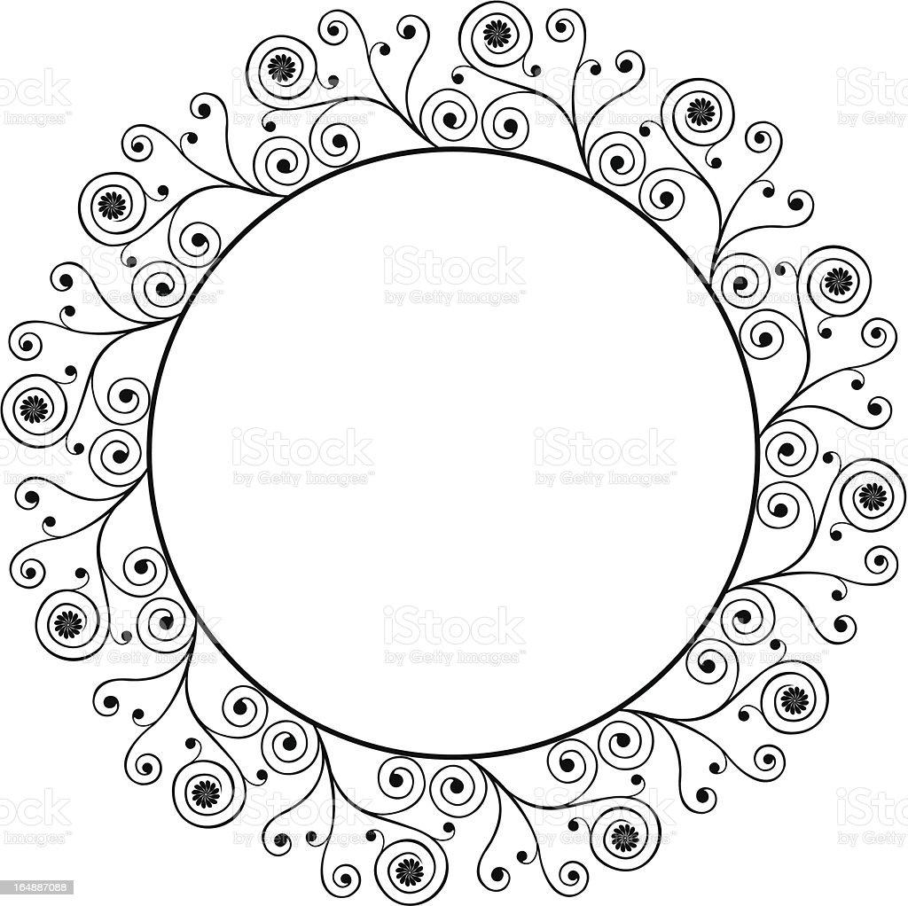 Decorative frame, vector vector art illustration