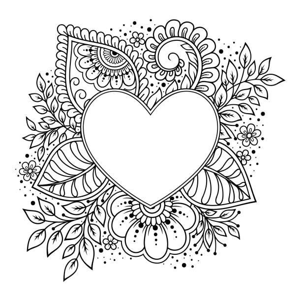 2 000 Heart Mandala Stock Photos Pictures Royalty Free Images Istock