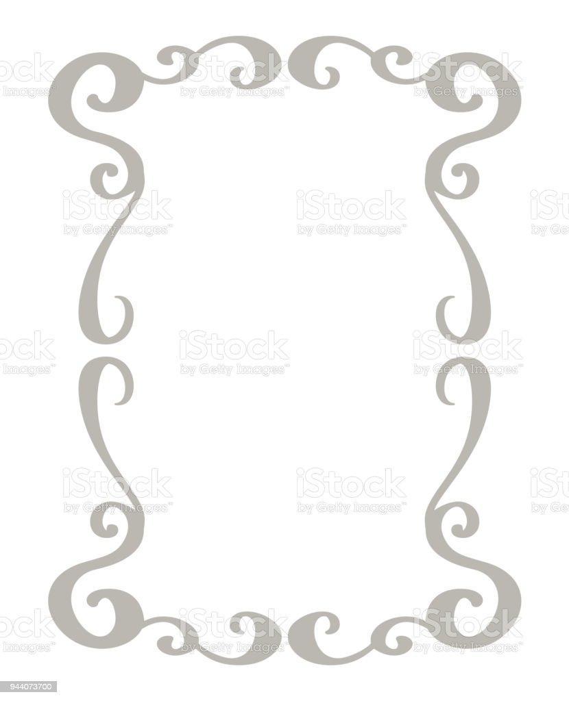 装飾的なフレームと罫線の標準的な四角形手の描かれた繁栄区切り書道
