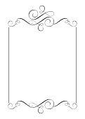 Decorative frames and border standard rectangle hand drawn flourish separator Calligraphy designer elements. Vector vintage wedding illustration Isolated on white background.