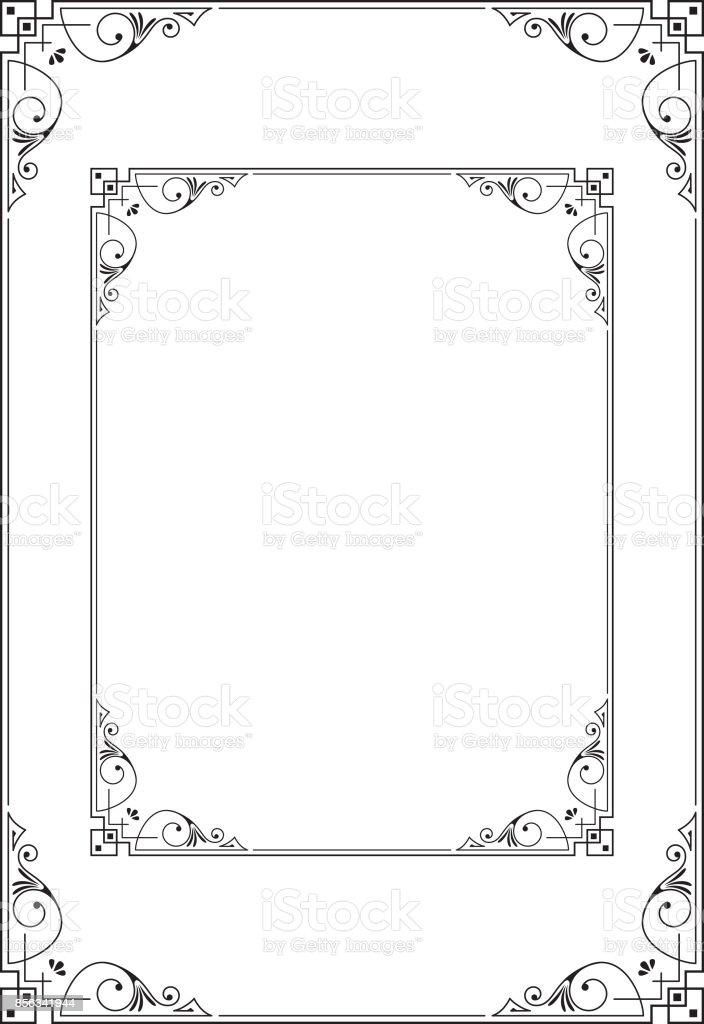 Ilustración De Marcos Decorativos Proporciones De A3 Y La Letra Plantilla Para Tarjeta De Invitación Anuncio Etiqueta Diploma Y Más Vectores Libres De