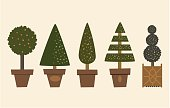 Illustration EPS-10, Vector, Decorative Garden Trees