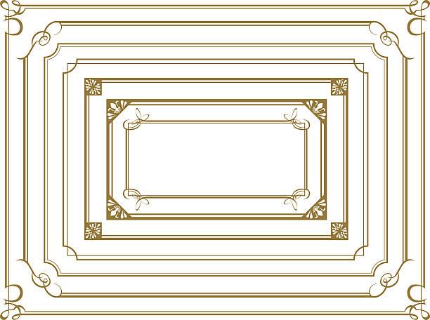 decorative gold frame set Vector decorative gold frame set Vector obsolete stock illustrations