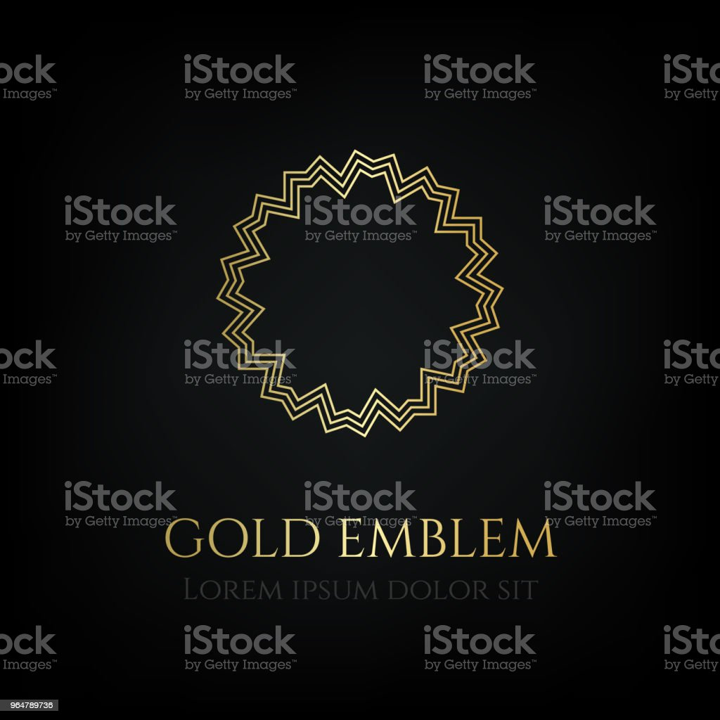Decorative golden round emblem. Ornamental vector motif. royalty-free decorative golden round emblem ornamental vector motif stock vector art & more images of badge