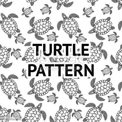 Printable Pattern Turtle Outline